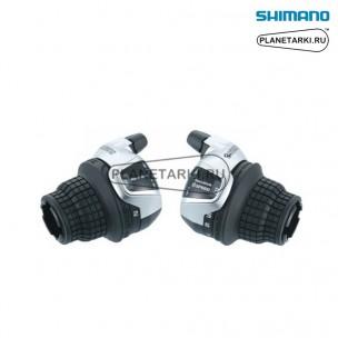 шифтер shimano tourney sl-rs45, пара, 3х8 ск., серебро, eslrs45p8a