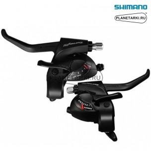 комбошифтер shimano tourney st-tx800, пара, 3х8 ск., черный, esttx800p8al