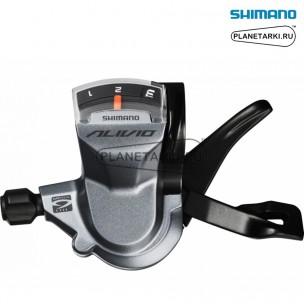 шифтер shimano alivio sl-m4000, левый, 3 ск., серебро, eslm4000lb