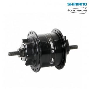 динамо-втулка shimano dh-3d32, 36 отв, под дисковые тормоза 6 болт, черный