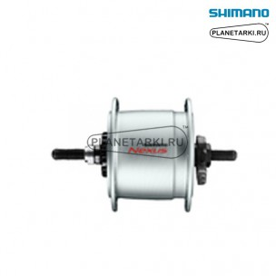 динамо-втулка shimano dh-с6000-3r, под роллеррный торм. 32отв, серебро