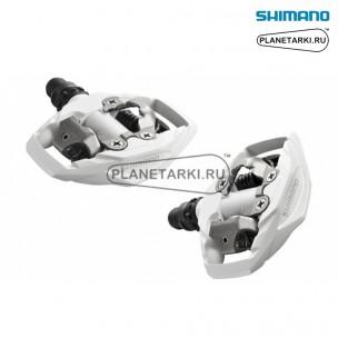 педали shimano pd-m530 spd белые, epdm530w