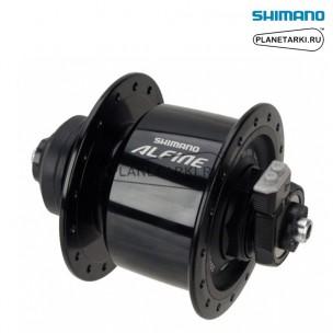 динамо-втулка передняя shimano alfine dh-s501 черный, edhs501al