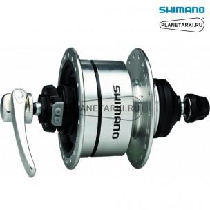 динамо-втулка shimano dh-3d72 серебро, edh3d72bs