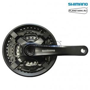 система shimano tourney ty501 175mm черный, afcty501e244clb