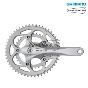 система shimano r345 175mm, BCD 110, серебро, efcr345e04xs