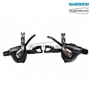 шифтер shimano xtr m9000, пара, 2/3х11 ск., черный, islm9000pa