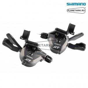 шифтер shimano deore xt m8000-i, пара, 2/3х11 ск., черный/серый, islm8000ipa