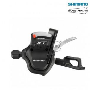 шифтер shimano deore xt m780, левый, 3 ск., черный, islm780lbp