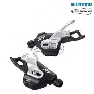 шифтер shimano deore xt m780-b-i, пара, 2/3х10 ск., черный/серебро, islm780bipa