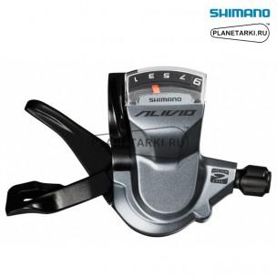шифтер shimano alivio m4000, правый, 9 ск., черный, eslm4000ra