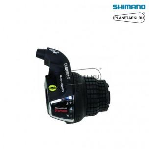 шифтер shimano tourney rs45, правый, 7 ск., черный, aslrs35r7ap