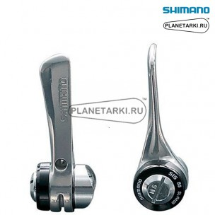 шифтер shimano r400, пара, 2/3х8 ск., серебро, islr400fal