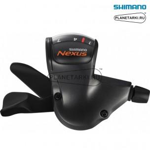 шифтер shimano nexus 7s50, правый, 7 ск., черный, asl7s50alll