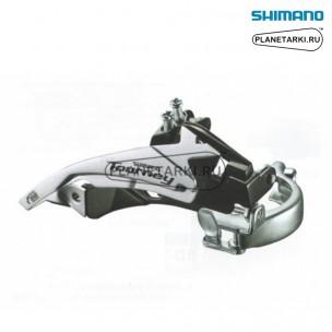 переключатель передний shimano tourney ty500 серебро, efdty500tsx6