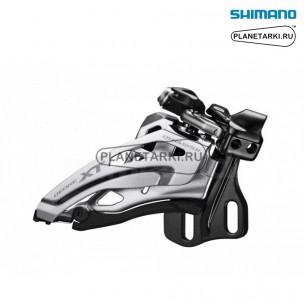 переключатель передний shimano deore xt m8000-e черный, ifdm8000e6x