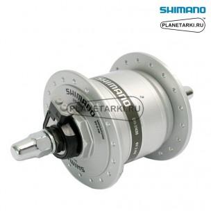 ДИНАМО-ВТУЛКА SHIMANO DH-2N35 36 ОТВ, ПОД ОБОДНЫЕ ТОРМОЗА, серебро