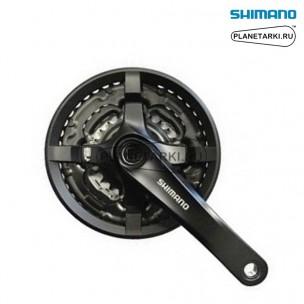 система shimano tourney fc-ty301 175mm черный, afcty301e244cl
