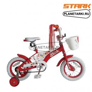 "Велосипед Stark Tanuki 12"" GIRL 2015 красный/белый"