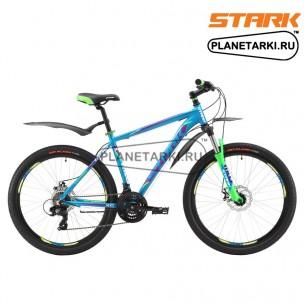 Велосипед Stark Hunter 26.2 D 2017 сине-зеленый