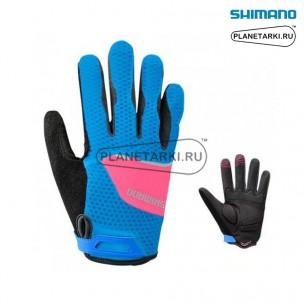 Перчатки, Shimano, жен, Explorer, голубые-розовые ECW-GLBS-MS12-U3F
