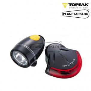 Комплект фонарей Topeak HighLite Combo II black