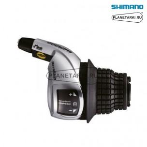 шифтер shimano Tourney RS45, правый, 8 ск., серебро, ASLRS45R8AT