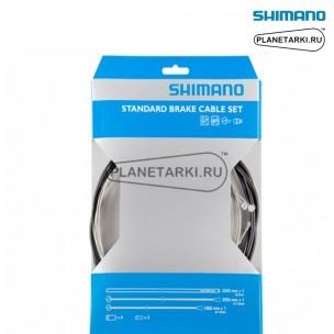 Трос и оплетка для тормоза Shimano, MTB, 2050мм, черный, Y80098022