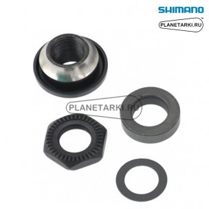 Левое опорное кольцо и гайка фиксации от SHIMANO WH-MT15-R, Y4FL98070