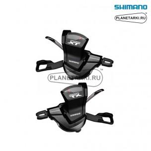 шифтер shimano deore XT M8000, левый+правый, 2/3х11 ск., черный, ISLM8000PA2